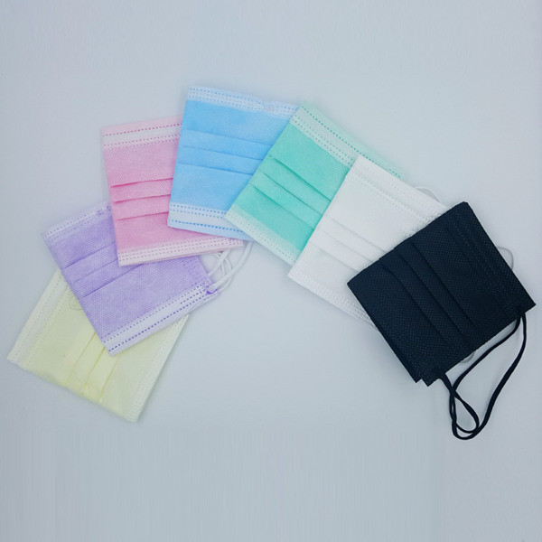 Disposable Non Woven 3ply Face Mask with Tie on