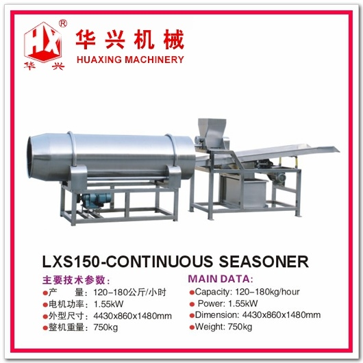 Lxs150-Continuous Seasoner (Seasoning Machine For Crisp Puff Snacks)