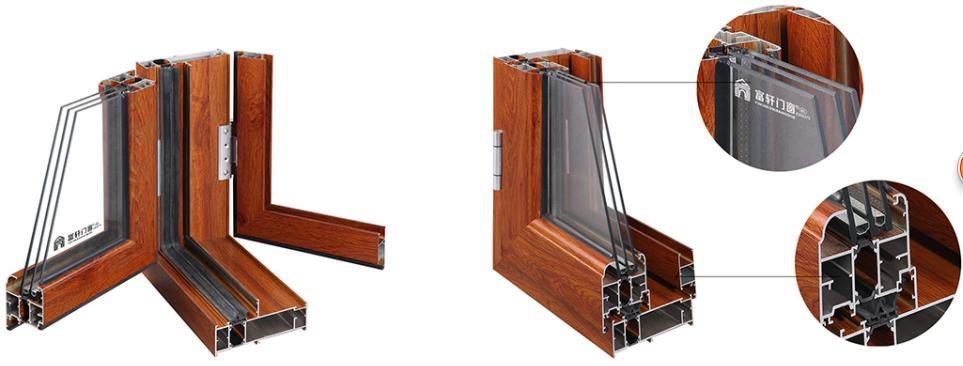 Aluminum Thermal Break Heat Insulation Window Made in China