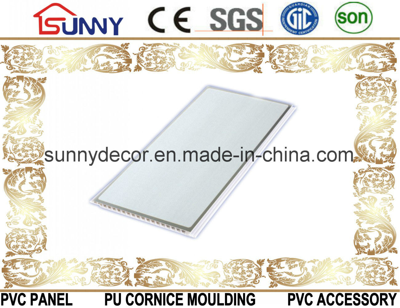 Building Materials Waterproof PVC Board-PVC Ceiling-Wall Panel for Decoration