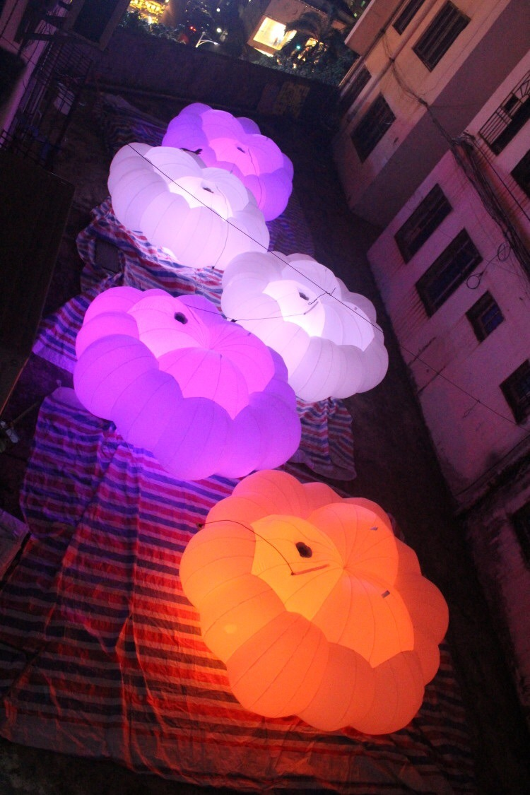LED Lighting Decoration Inflatable Star Inflatable Cloud for Party Event
