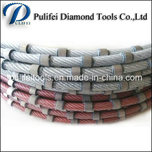 Granite Marble Concrete Cutting Sintered Beads Diamond Wire Saw