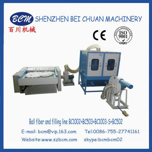 Cushion Filling Machine with Ball Fiber