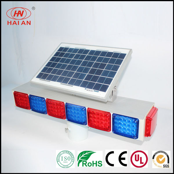 Moveable Solar Panel LED Light/Portable LED Red Blue Warning Lights Traffic Expressway Solar Freeway Warning Light Super Highway Waterproof Solar Light