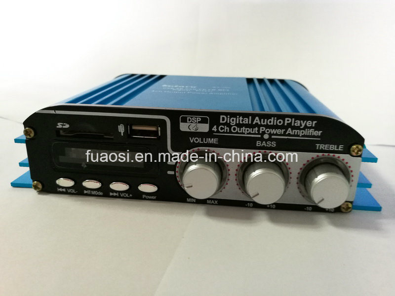 4CH Output Car Amplifier Digital Audio Player