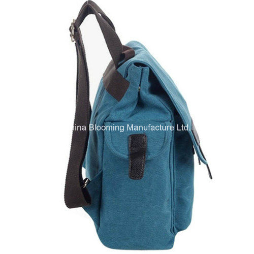 Washed Canvas Travel School Laptop Satchel Shoulder Crossbody Bag Backpack