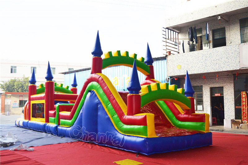 Commercial Inflatable Castle Obstacle Course Chob236