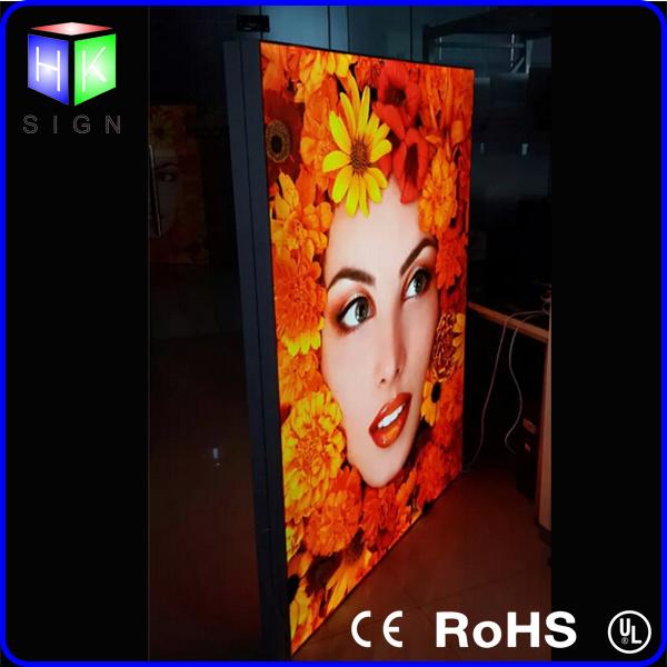 Double Side Fabric LED Light Box Advertising with Aluminum Frame LED Backlit Sign