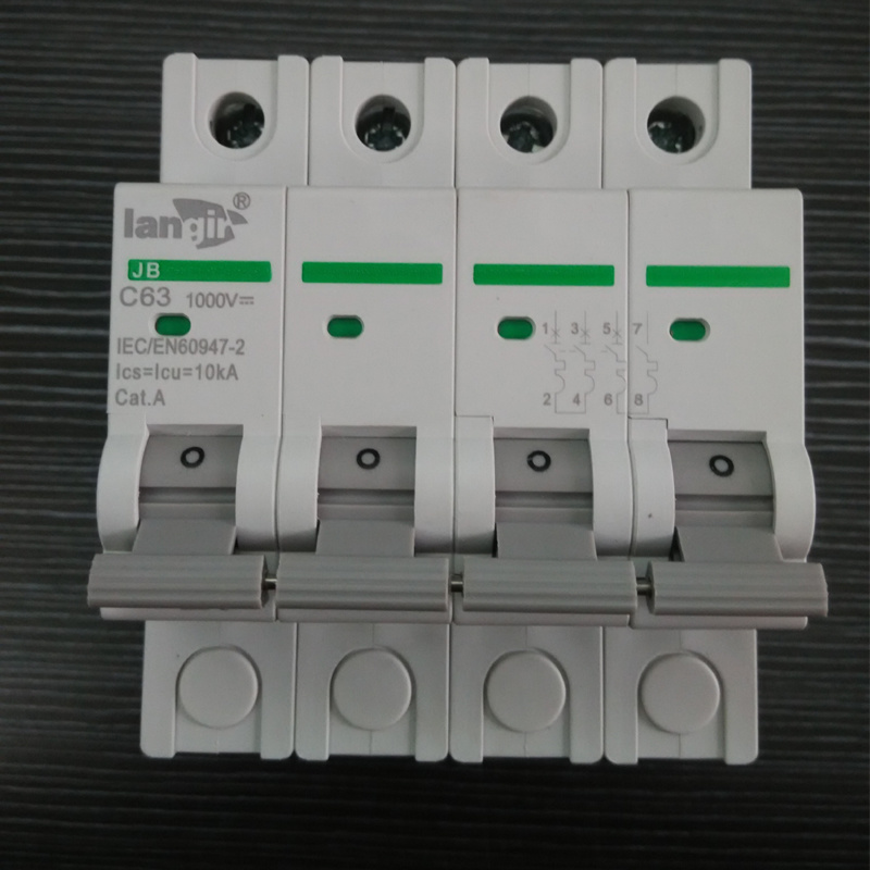 3p DC Circuit Breaker Non Polarized DC Breaker with TUV Certificates From 1A to 63A