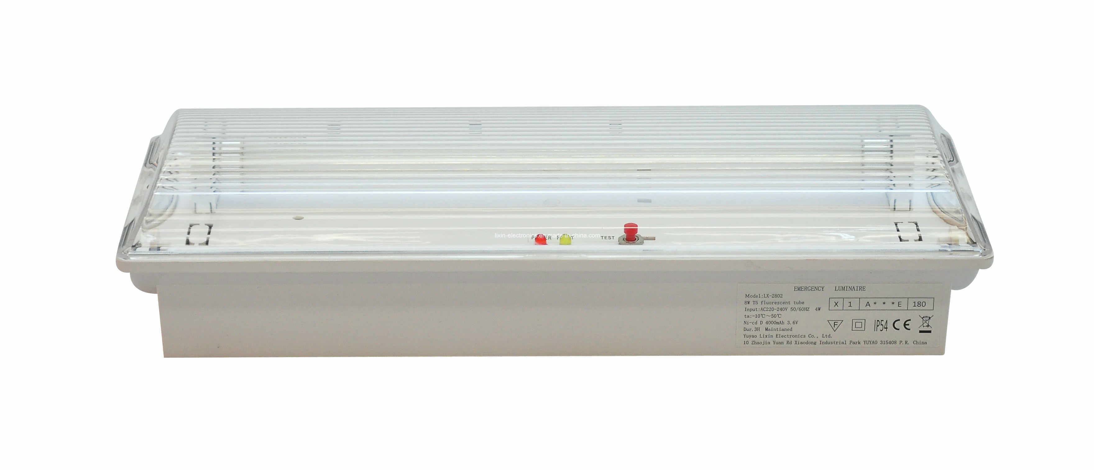 Fire Retardant ABS Non-Maintained Fluorescent Tube Emergency Light