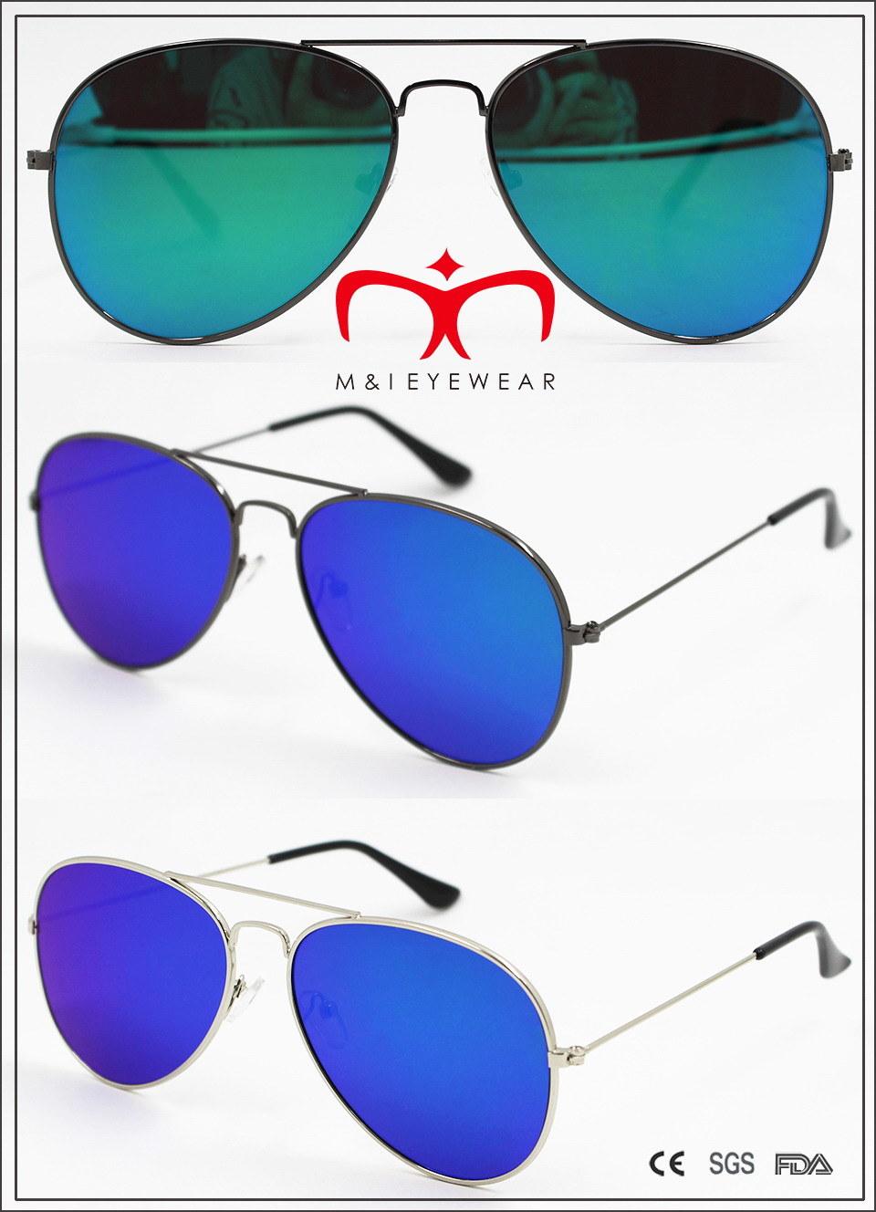 New Fashion Metal Sunglasses with Flat Lens (MI160223)