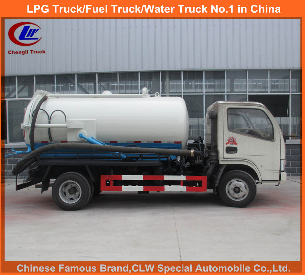 Vacuum Suction Pump Truck for 5000liters Sewage Tank Truck