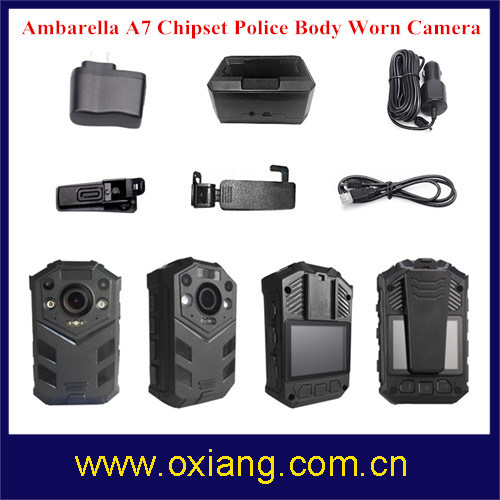 2 Meters Shock-Proof IR Night Vision IP67 Full HD1080p Police Body Worn DVR