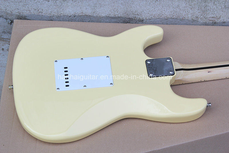 Hanhai Music/Sale Price Milk White St Style Electric Guitar