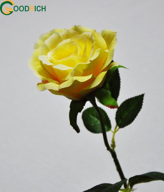Single Stem Rose Bud Silk Flower