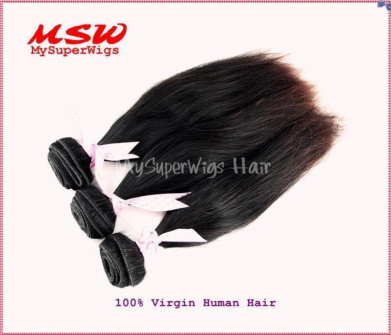 Natural Black Virgin Human Hair Weavings