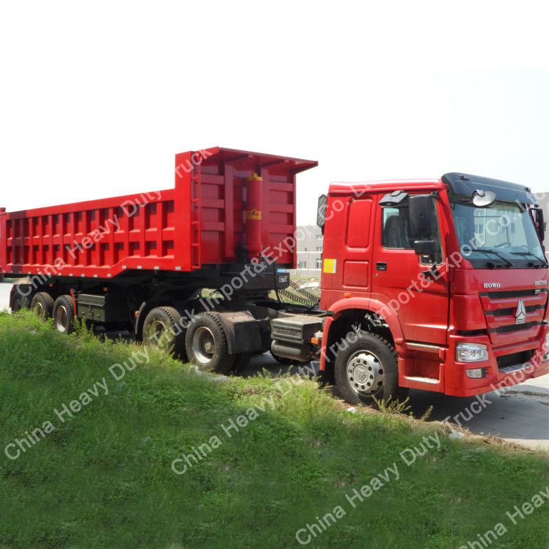 Factory Sale 90mm King Pin 45m3 Cargo Box Dump Semi-Trailer