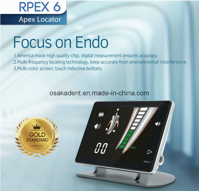 New Dental Rpex6 High Accuracy Apex Locator for Root Apex