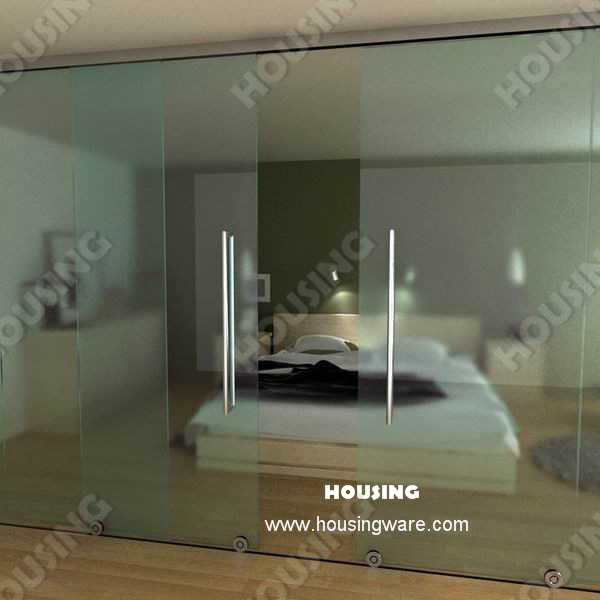 Of High Quality DIY Installation Framless Tempered Glass Sliding Door