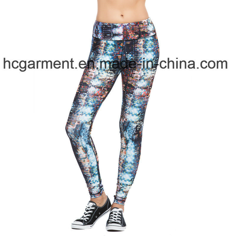 Workout Clothes for Woman, Gym Leggings, Printing Capri Pants
