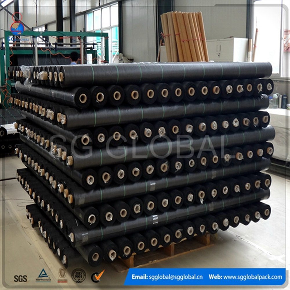Black Geotextile PP Woven Weed Mat