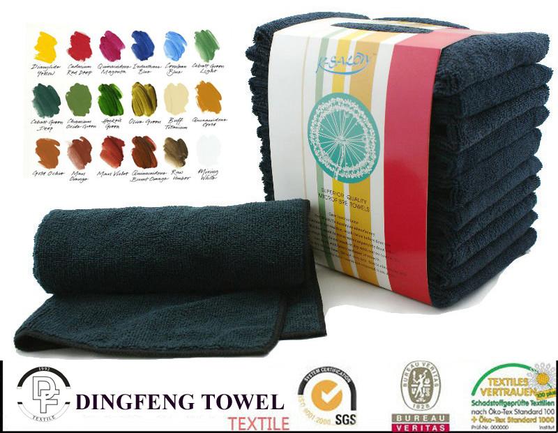 Quality Hair Drying 100% Cotton or Microfiber Bleach Proof Beauty Salon Towel