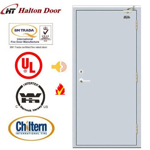 BS Tested Steel Fire Door/Fireproofing Steel Door//Fireproof Door/Top Quality Simple Design