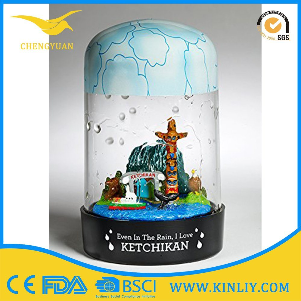 Plastic Flaxible Promotion Souvenir Custom Frame Photo Insert Snow Globe