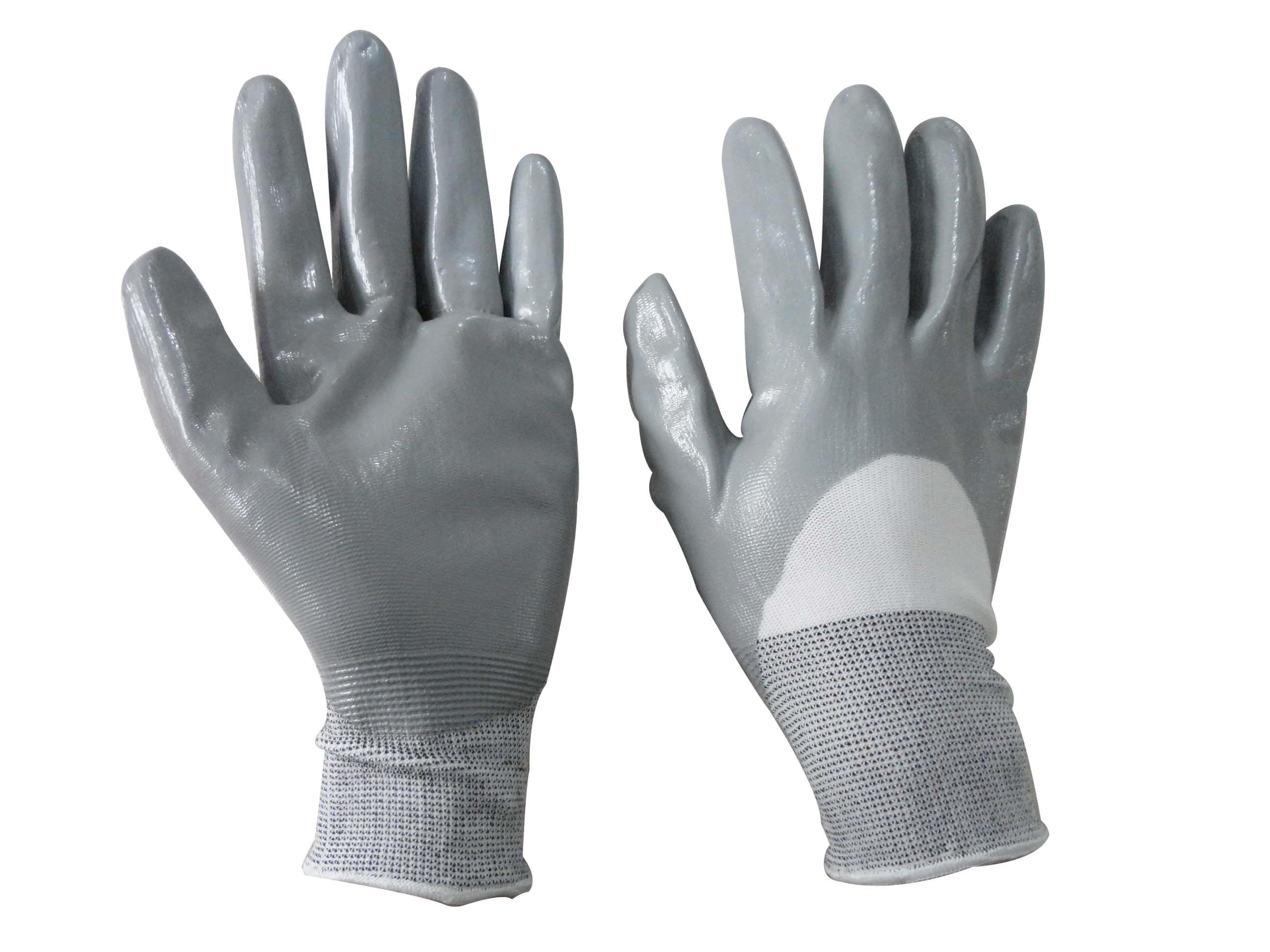 13G Nylon Liner Nitrile Glove