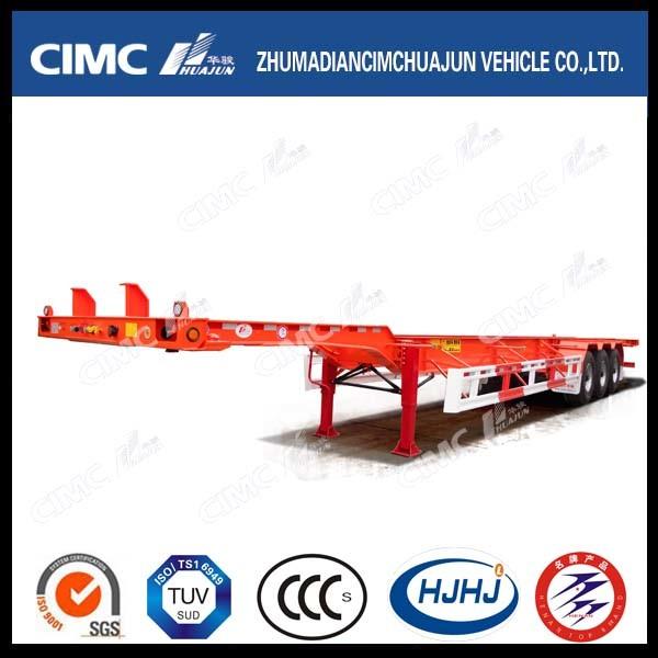 Cimc 3 Axle Skeleton 40FT Container Semi Trailer with Gooseneck or Air Suspension
