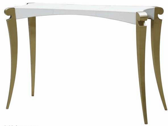 Modern style white leather console table fs106 china console table