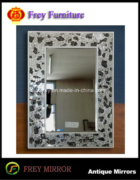 Popular Wooden Framed Mirror with Mosaic Design