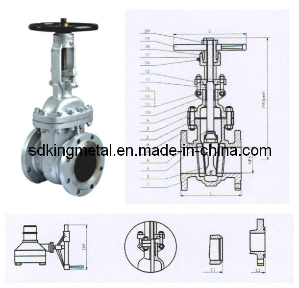 Mss Sp-70 Cast Iron Non-Rising Stem Gate Valve with CE