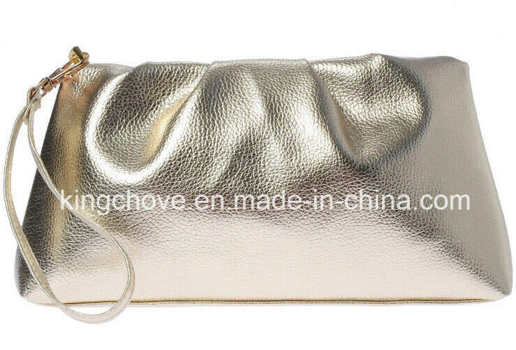 Silver PU Fashion Latest Cosmetic Bag (KCC211)
