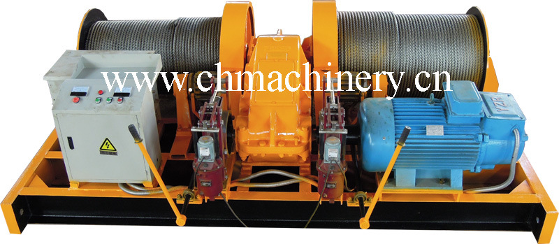 Double Drum Mine Winch for Lifting Materiel, Ore, Equipment (2JK5)