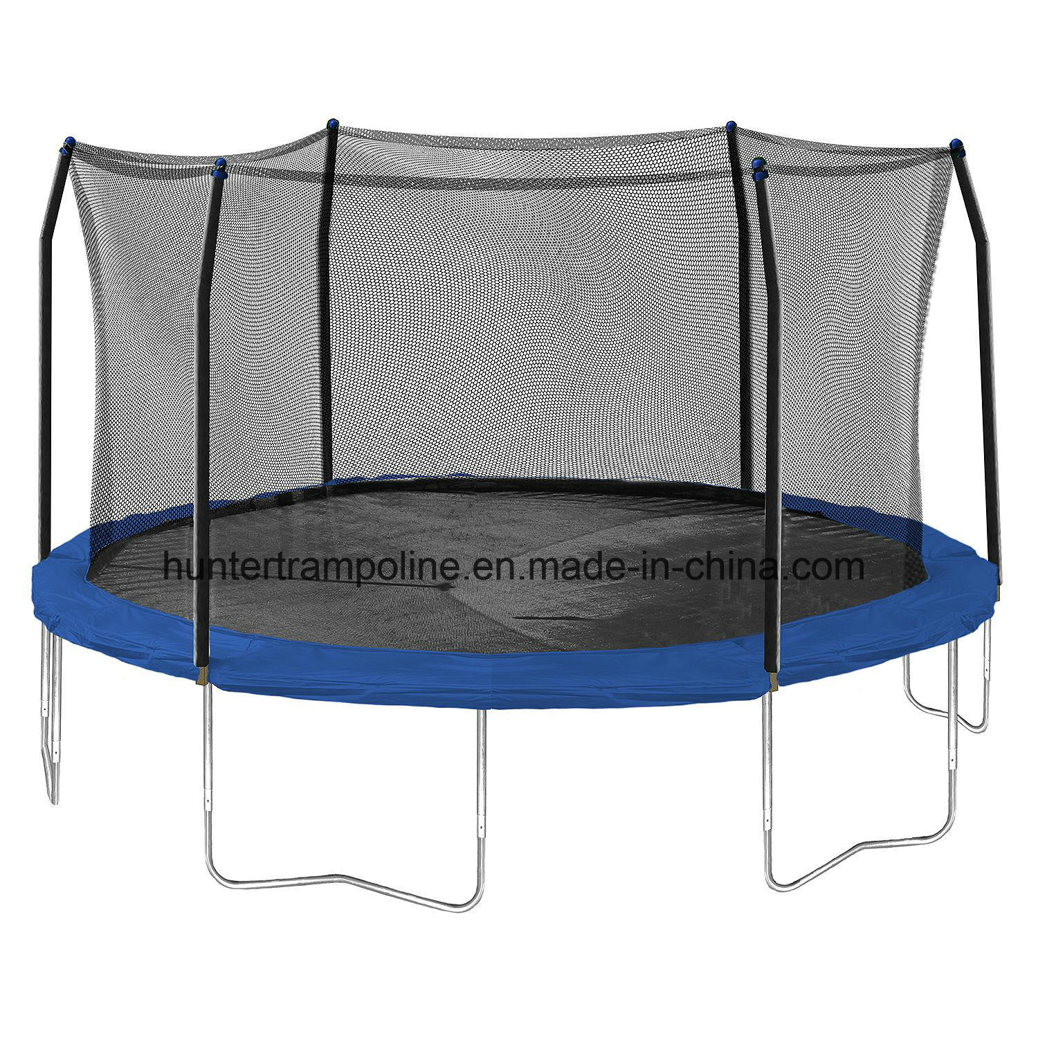 15FT Outdoor Round Super Jump Trampoline with Enclosure