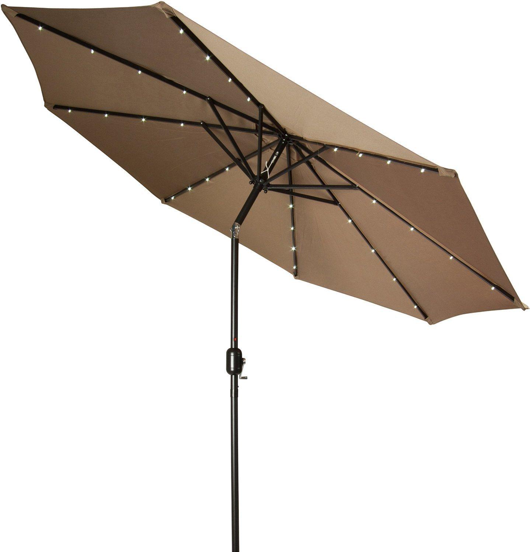 Captivating 10ft (3m) Patio Umbrella Solar Umbrella Garden Umbrella Outdoor Umbrella  Parasol LED Light Umbrella