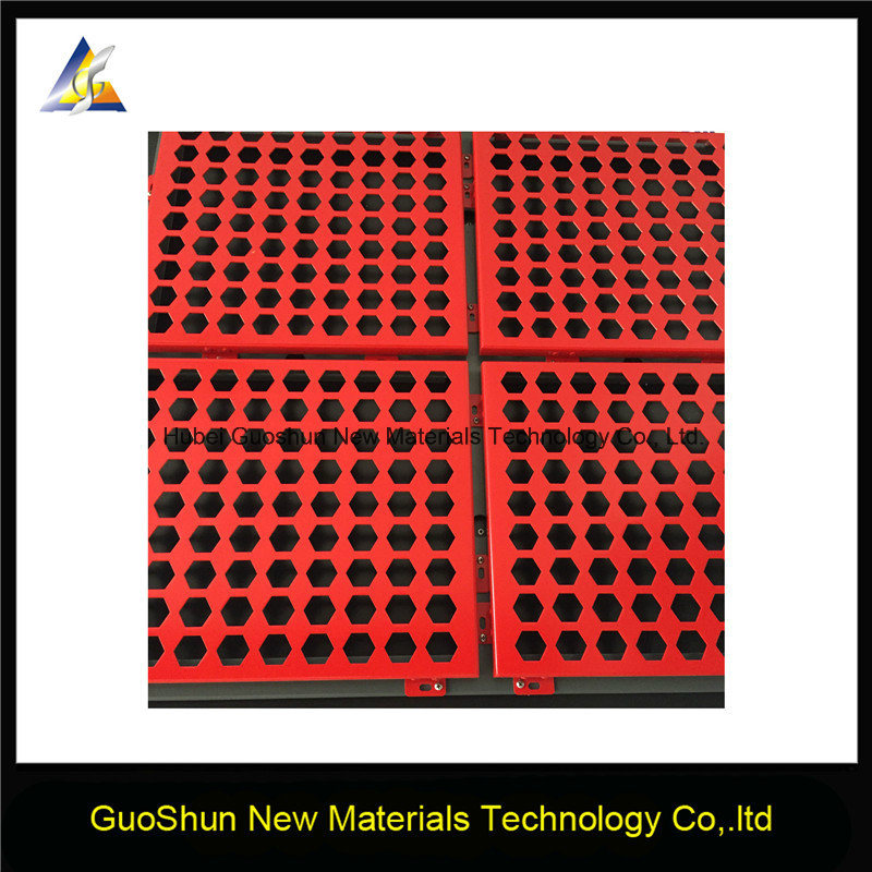 Perforated Carved Colored Decorative Material Aluminum Panel
