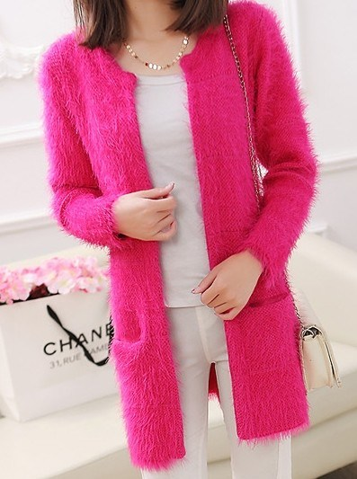 Sweater Mohair Long Coat Cardigan (BTQ001)