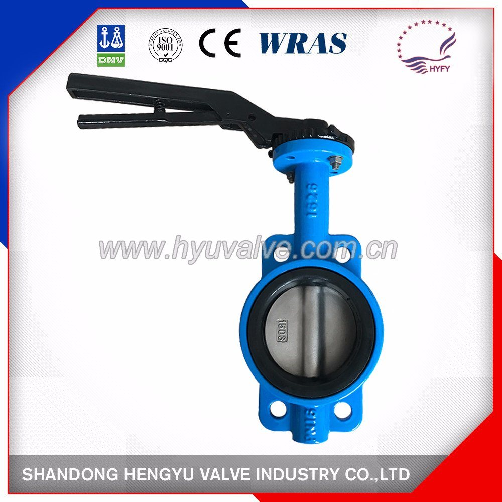 Wafer Type Butterfly Valve with Single Shaft