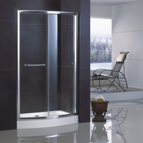 Sliding Bowfront Shower Door with Double-Side Easy Clean Nano Coating
