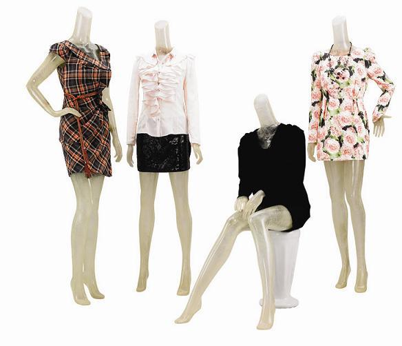Full Body Fiberglass Window Mannequins for Fashion Store Display