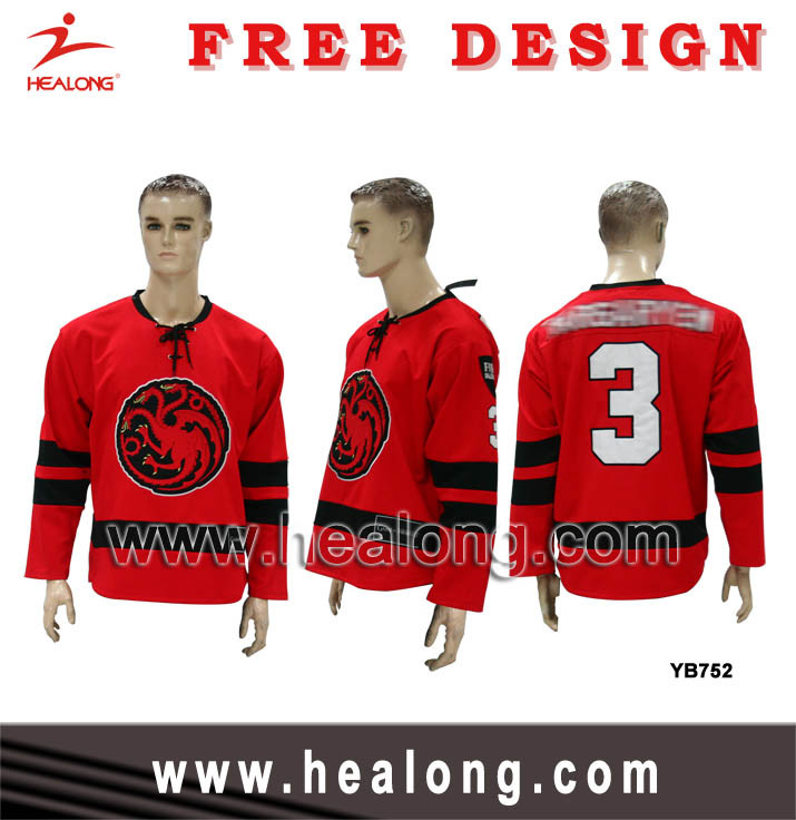Sublimation Woven Logo Sublimation Ice Hockey Wear