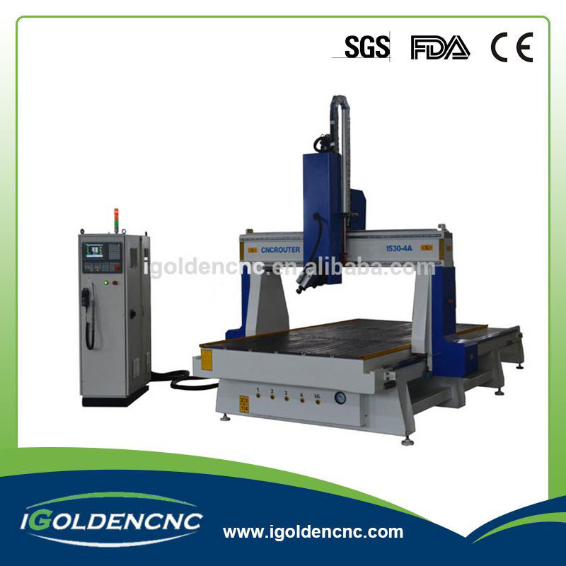 Spindle Rotate 180 Degree 4 Axis 3D CNC Router
