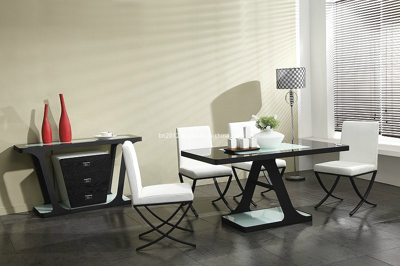 Modern Chinese Home Glass Metal Dining Room Furniture (CT-131 CY-131)