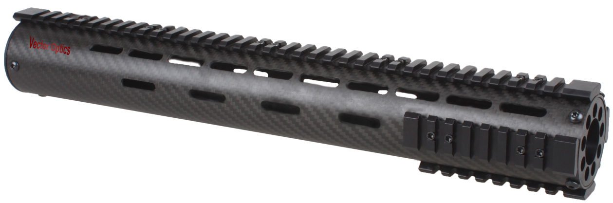 Tactical Ar15 Carbon Fiber Free Float 15 Inch Handguard Picatinny Rail Mount