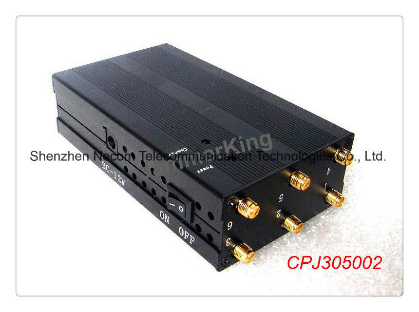 China Safe Well List Trading Companies Dubai Cpj3050 Portable Six Antenna for All Cellular-GPS-Lojack-Alarm Jammer System - China Portable Cellphone Jammer, GPS Lojack Cellphone Jammer/Blocker
