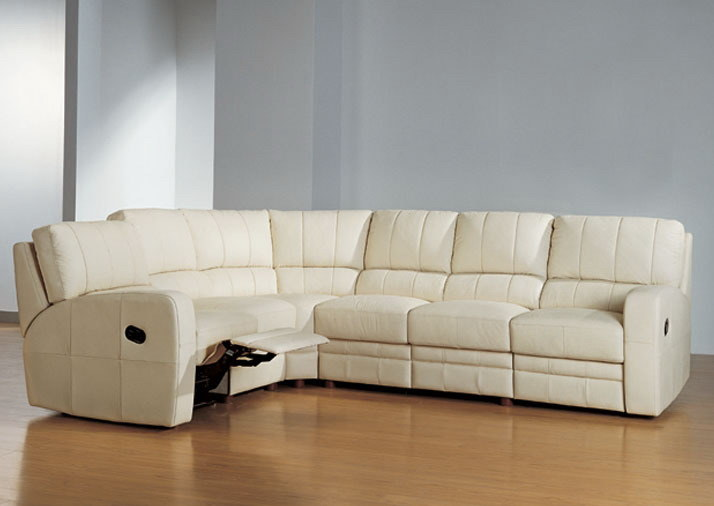 Sectional Leather Recliner Sofa (ES2077) - China Leather Recliner ...