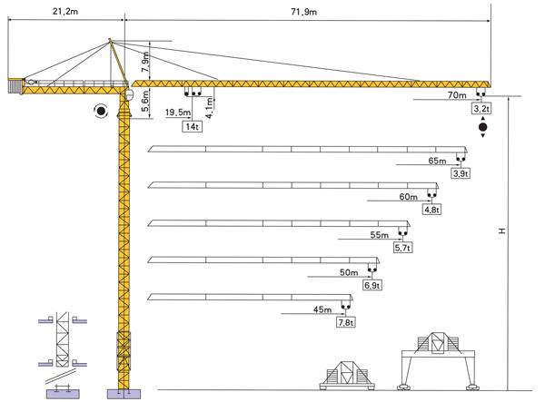 Tower Crane Sizes : China tower crane qtz k tc