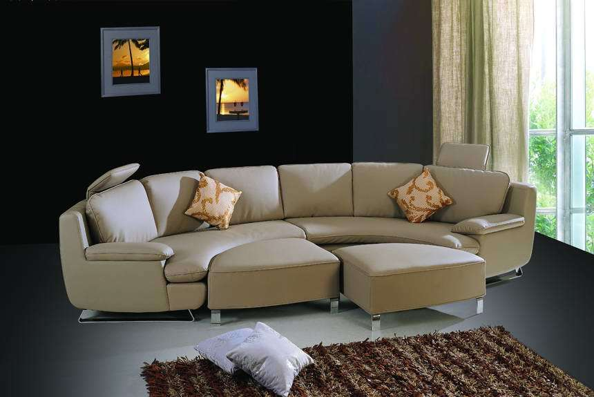 China Round Shaped Sofa Sto S8 China Cowhide Sofa Round Shaped Sofa